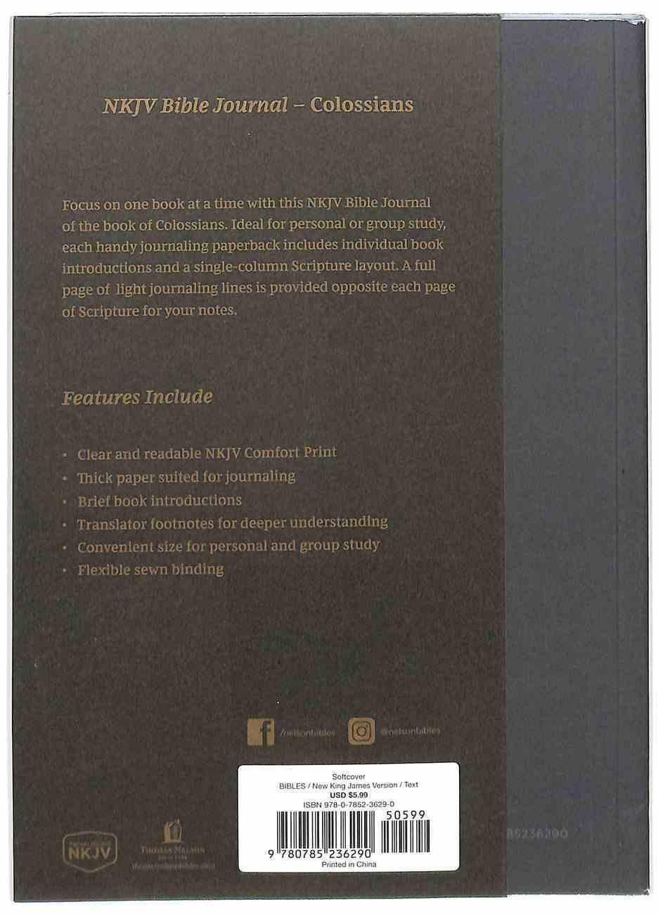 NKJV Bible Journal - Colossians Paperback