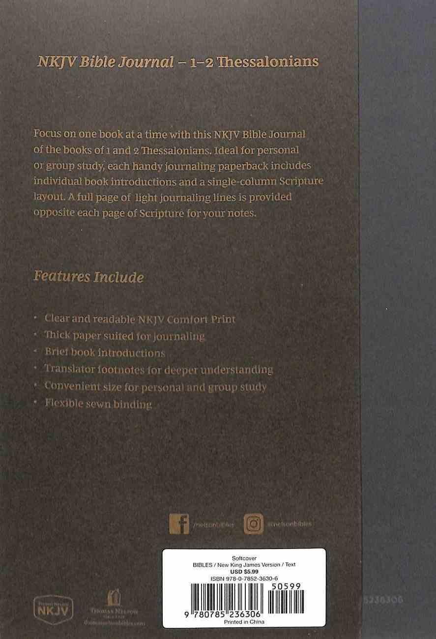 NKJV Bible Journal - 1-2 Thessalonians Paperback