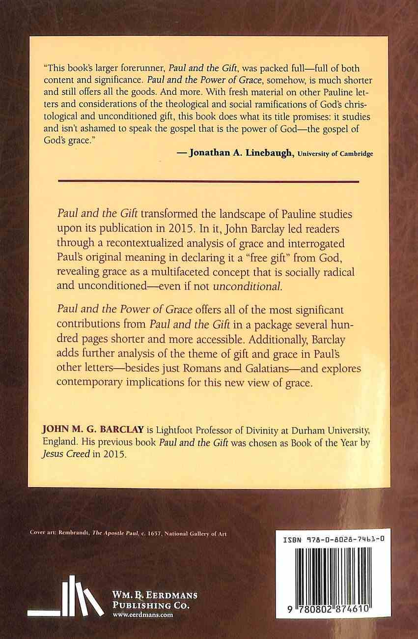 Paul and the Power of Grace Paperback