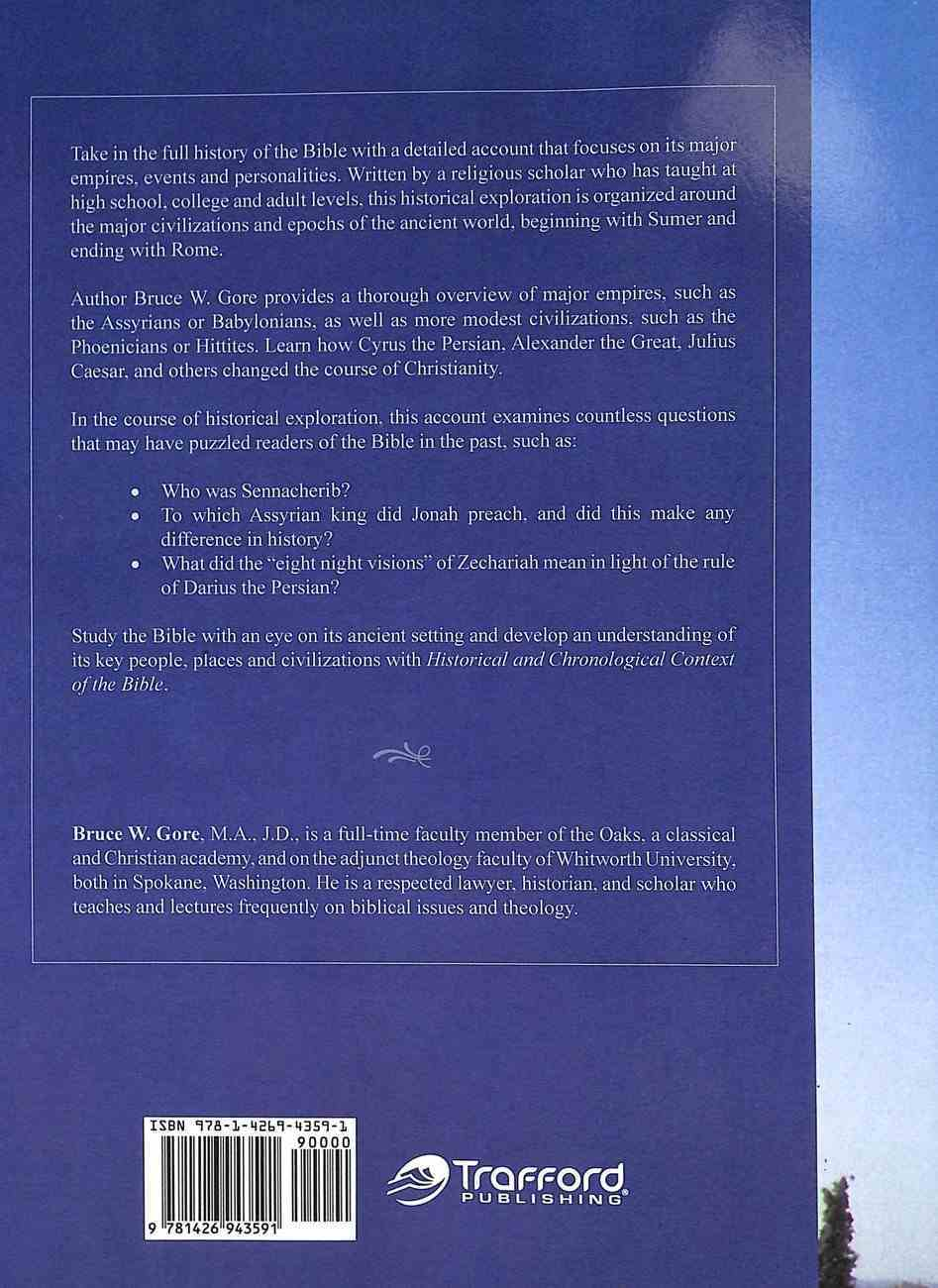 Historical and Chronological Context of the Bible Paperback