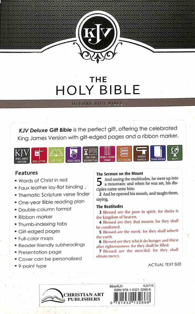KJV Deluxe Gift Bible Indexed Dark Brown (Red Letter Edition) Imitation Leather