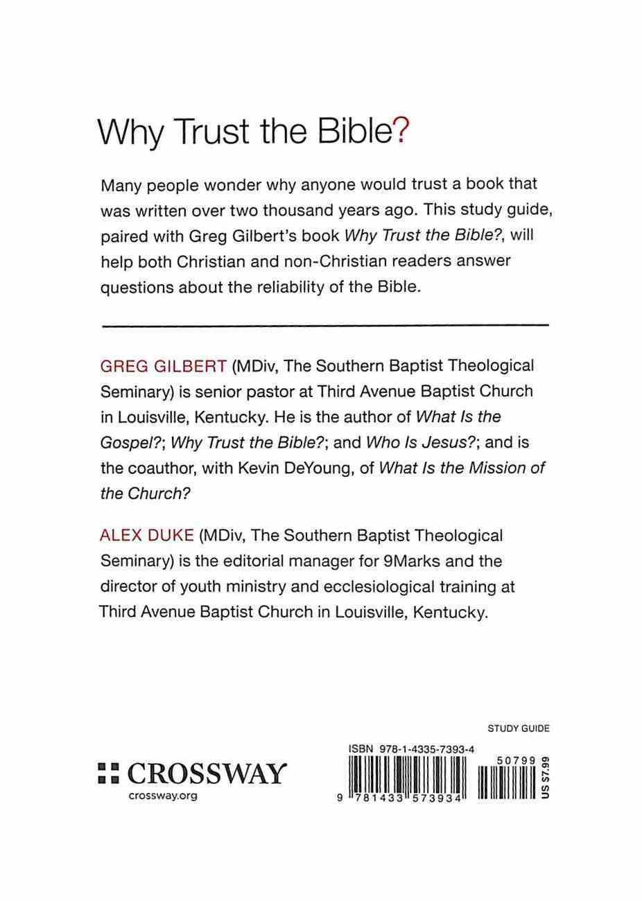 Why Trust the Bible? (Study Guide) (9marks Series) Paperback