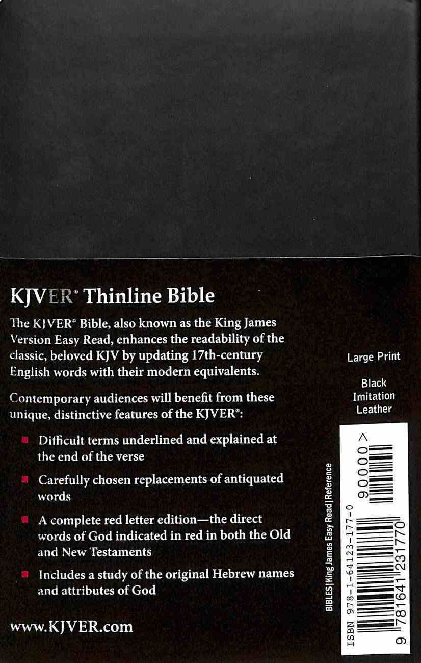Kjver Gift and Award Thinline Personal Size Black (Red Letter Edition) Imitation Leather