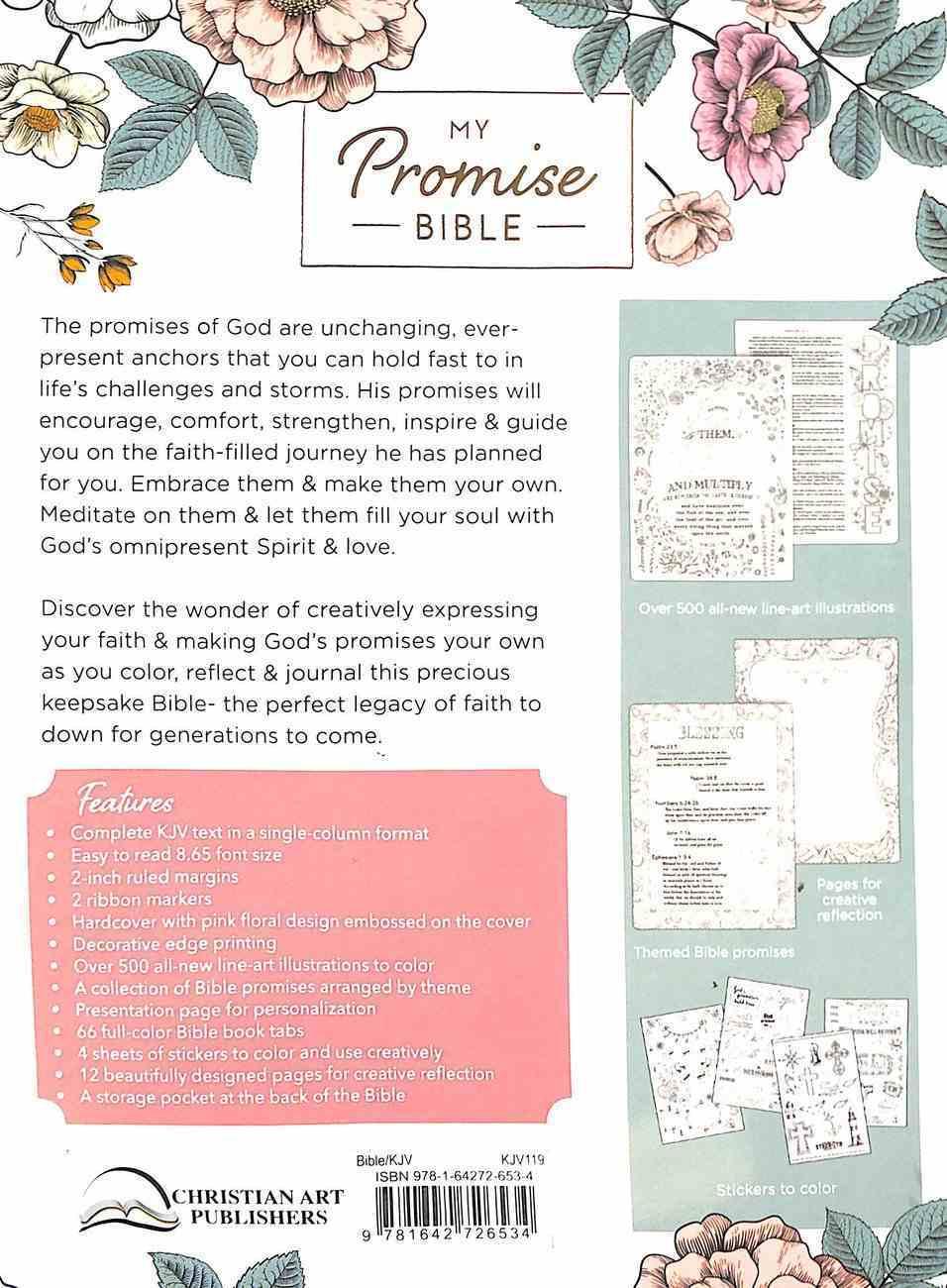 KJV My Promise Bible Pink Imitation Leather Over Hardback