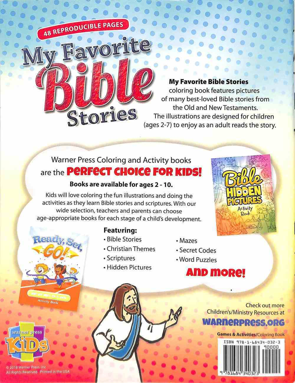 Activity Book: My Favorite Bible Stories (Reproducible, Ages 2-7) Paperback