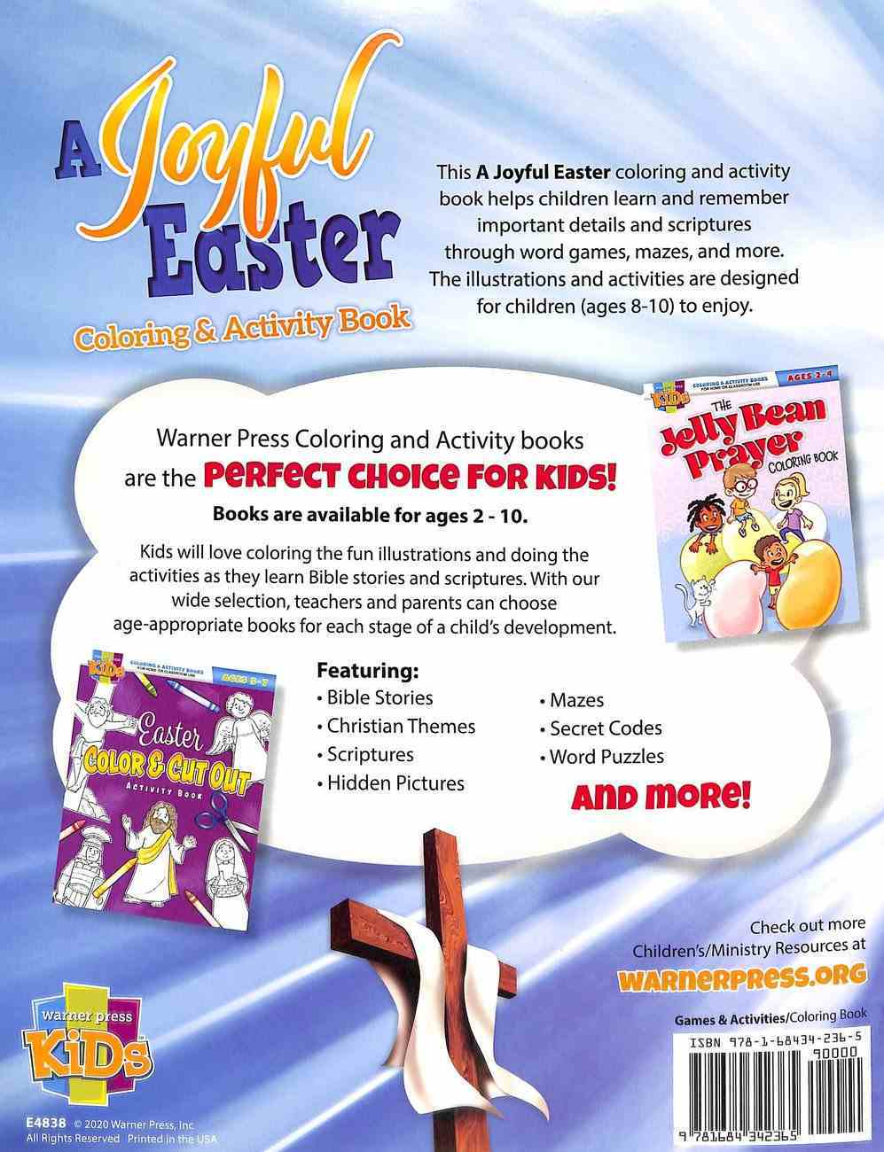 Joyful Easter, A: Coloring & Activity Book (Ages 8-10, NIV) (Warner Press Colouring & Activity Books Series) Paperback