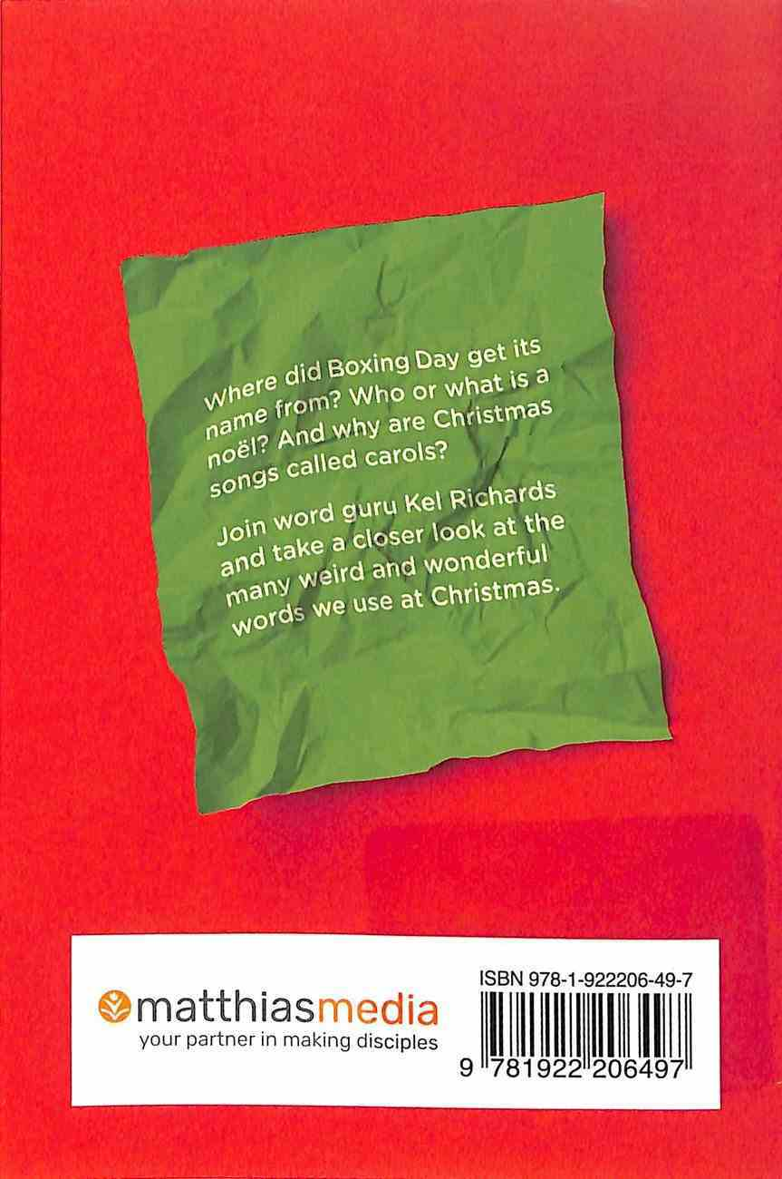 Christmas Words Unwrapped Booklet