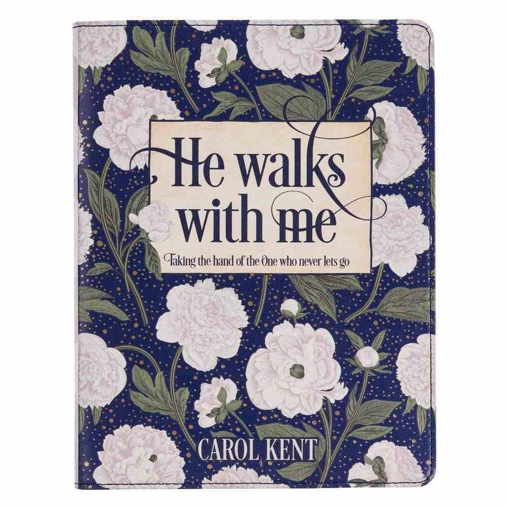 He Walks With Me, White Floral: 365 Daily Devotional Imitation Leather