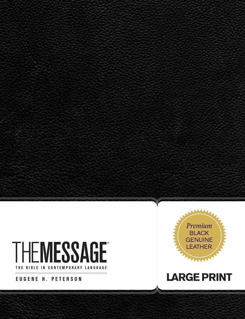 Message Large Print Black (Black Letter Edition) Genuine Leather