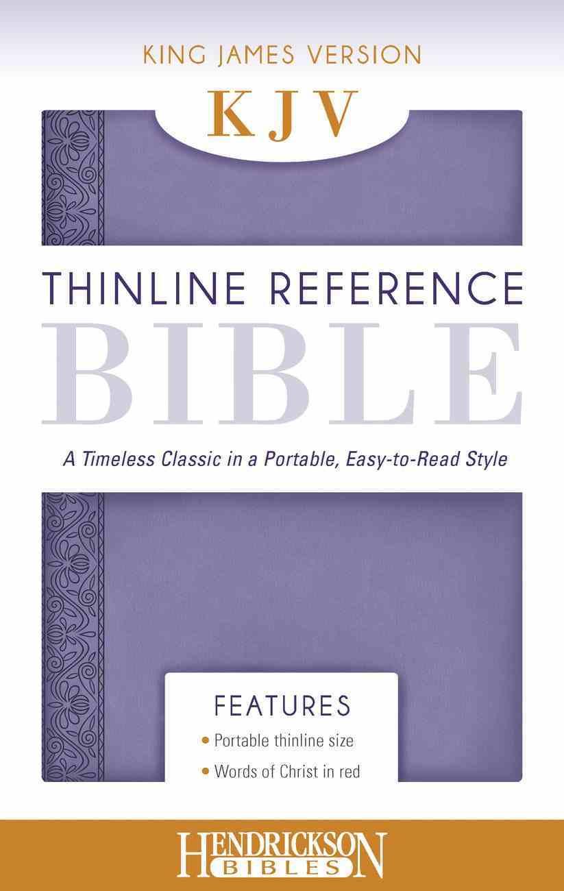 KJV Thinline Reference Bible Lilac Imitation Leather