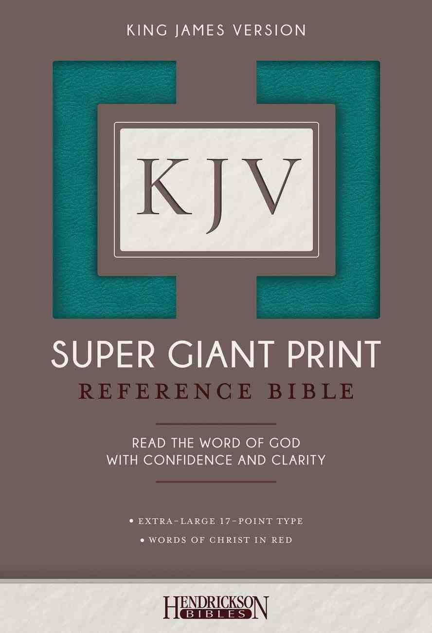 KJV Super Giant Print Reference Bible Flexisoft Turquoise Imitation Leather