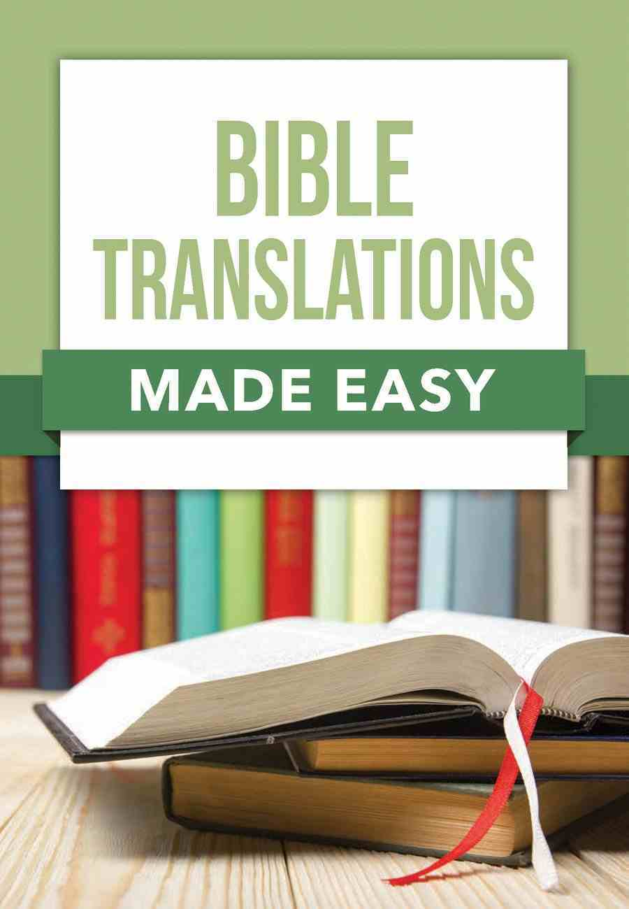 Bible Translations (Made Easy Series) Paperback