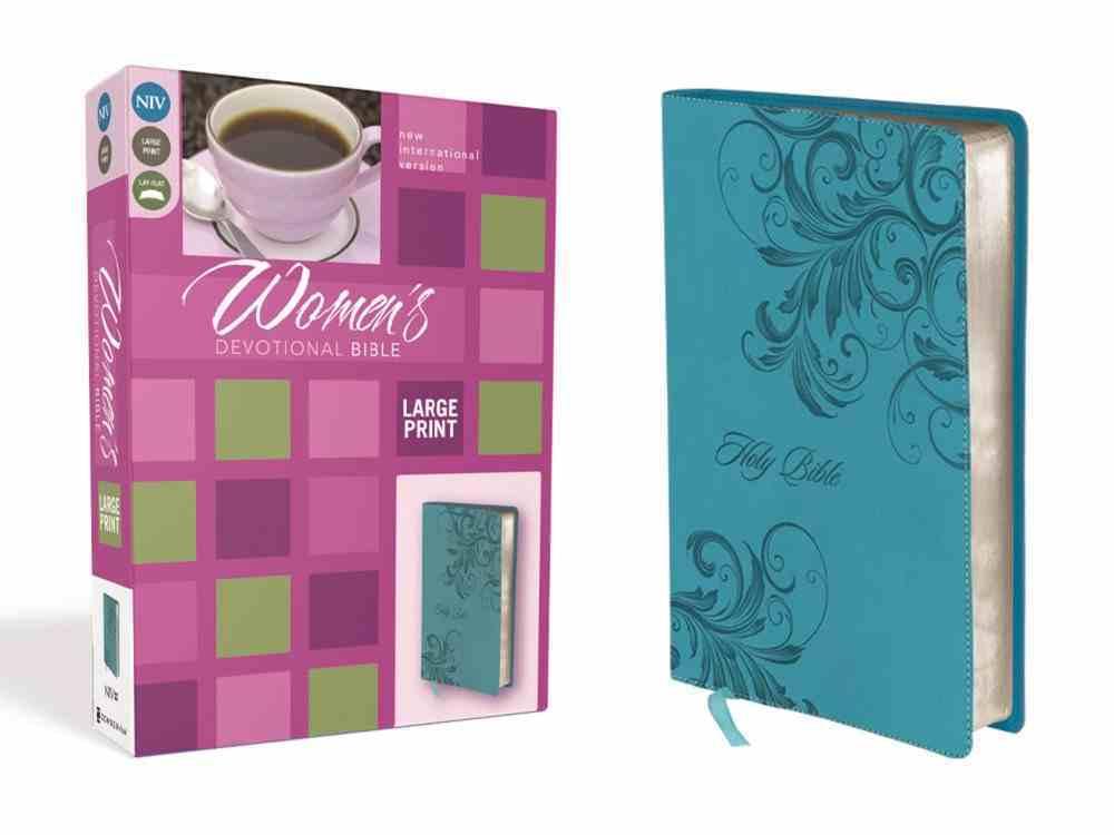 NIV Women's Devotional Bible Large Print (Black Letter Edition) Premium Imitation Leather