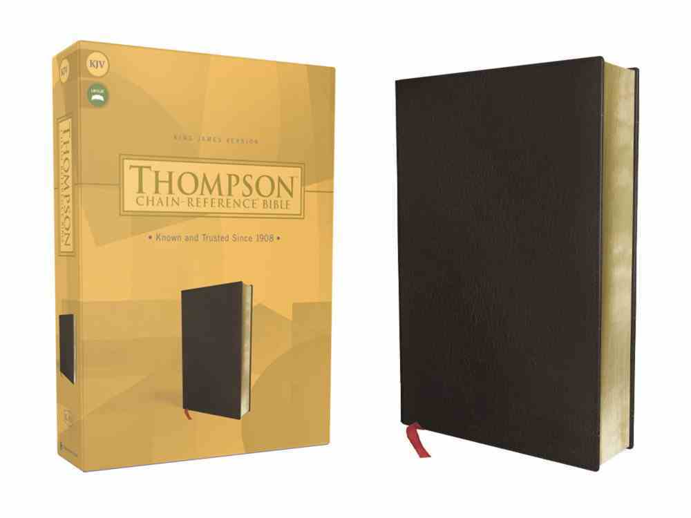 KJV Thompson Chain-Reference Bible Black (Red Letter Edition) Bonded Leather