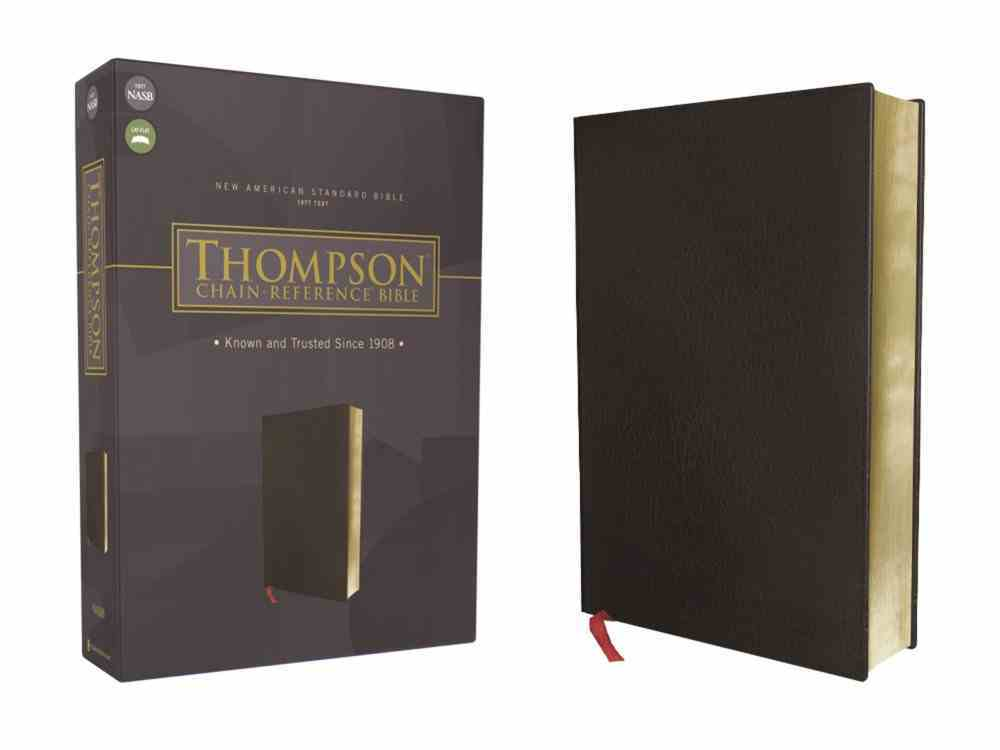 NASB Thompson Chain-Reference Bible Black 1977 Text (Red Letter Edition) Bonded Leather