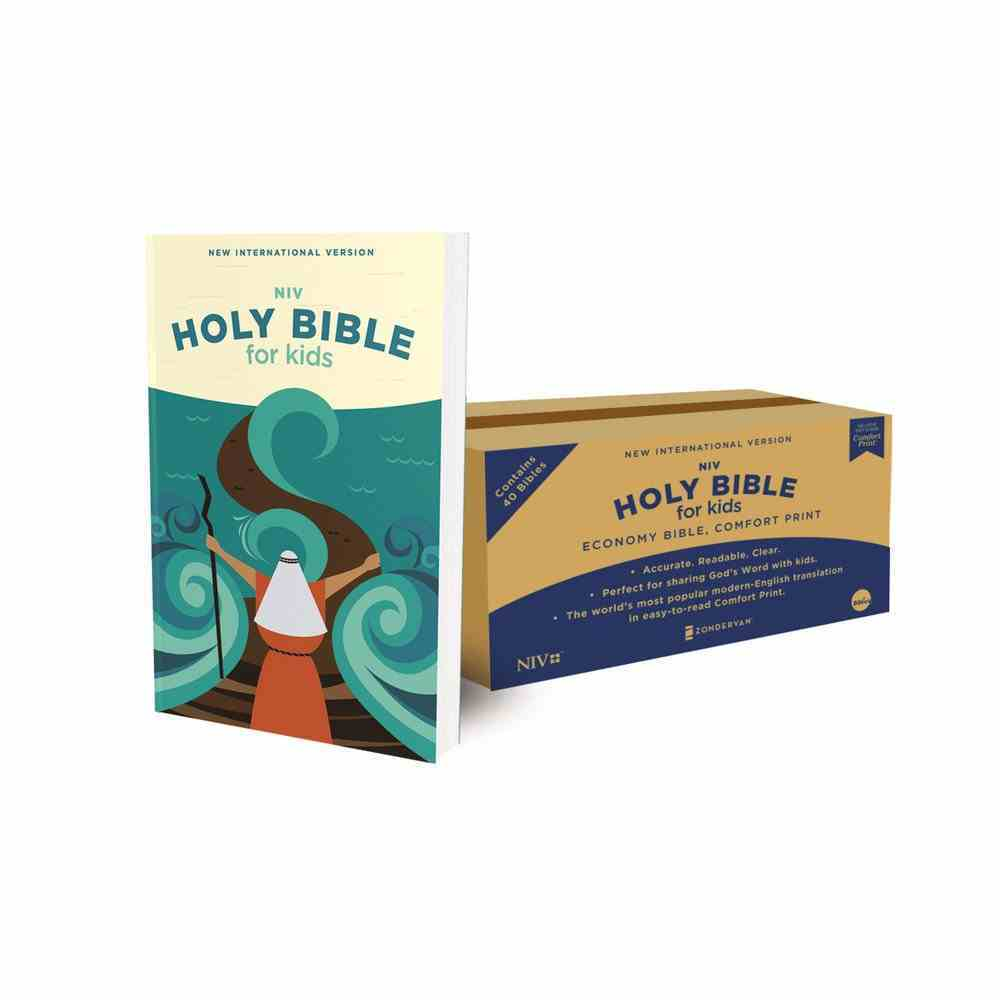 NIV Holy Bible For Kids Economy Comfort Print Edition (Black Letter Edition) (Case Of 40) Paperback