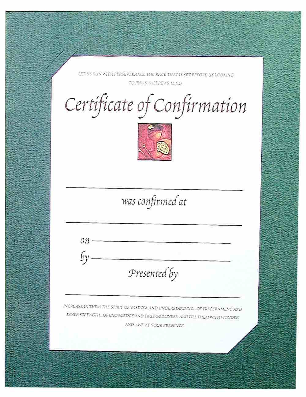 Certificate: Confirmation Stationery