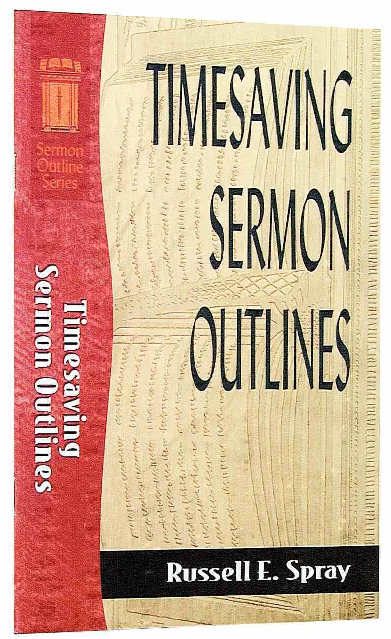 Sos: Timesaving Sermon Outlines (Sermon Outline Series) Paperback