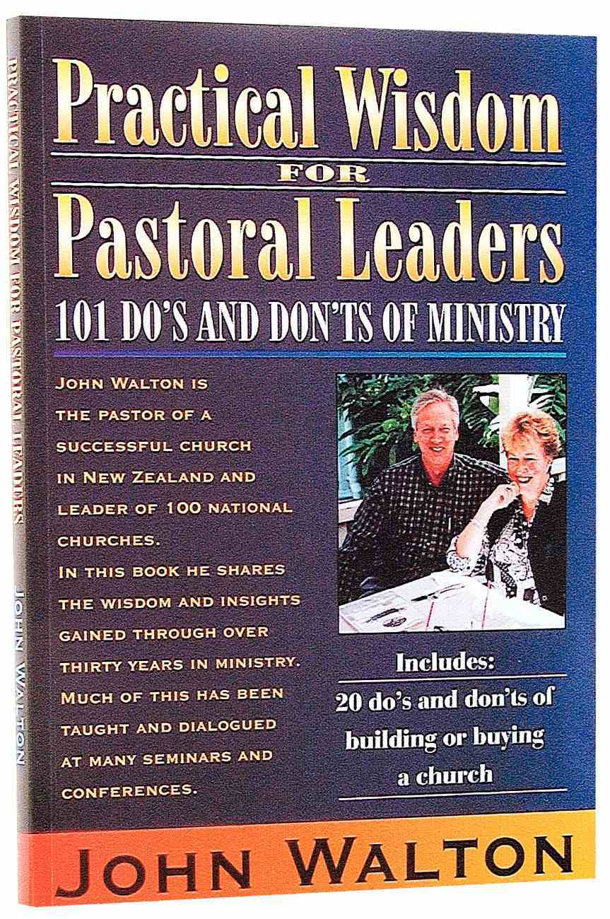 Practical Wisdom For Pastoral Leaders Paperback
